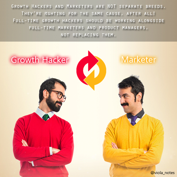 growth hackers and marketers are NOT separate breeds