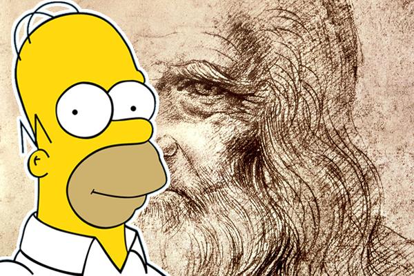 Leonardo da Vinci & Homer Simpson