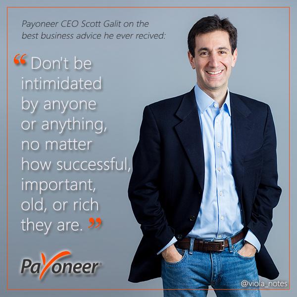 Best business advice Scott Galit ever received