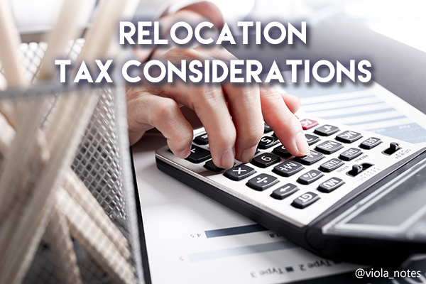 Relocation Tax Considerations