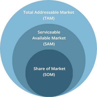 visual representation of TAM, SAM and SOM