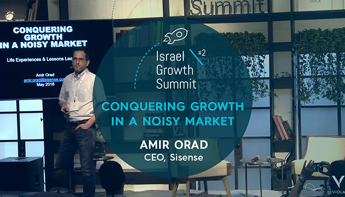Sisense CEO, Amir Orad, at the Israel Growth Summit 2018