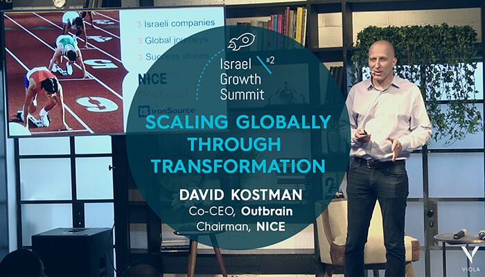 Outbrain Co-CEO David Kostman at the Israel Growth Summit 2018