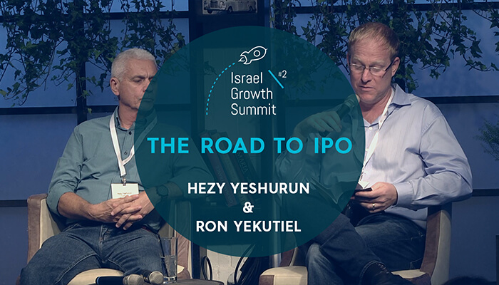 Hezy Yeshurun and Ron Yekutiel at the Israel Growth Summit 2018