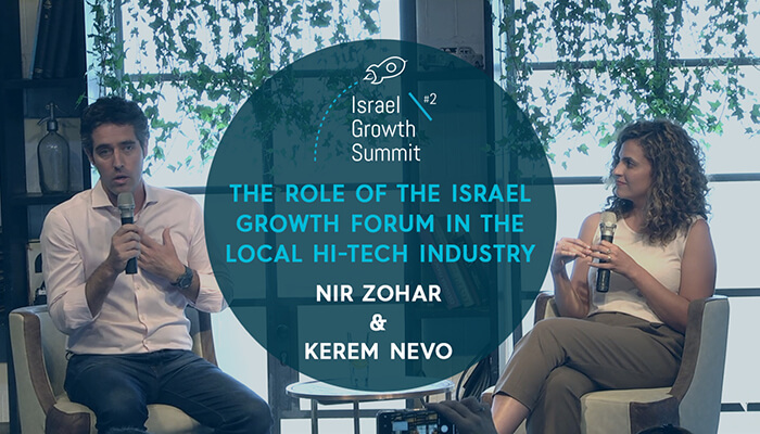 Nir Zohar and Kerem Nevo at the Israel Growth Summit 2018