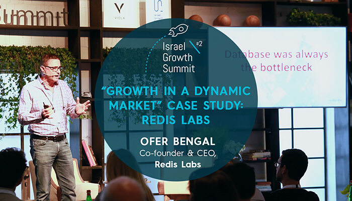 Redis Labs Co-founder & CEO, Ofer Bengal, at the Israel Growth Summit 2018