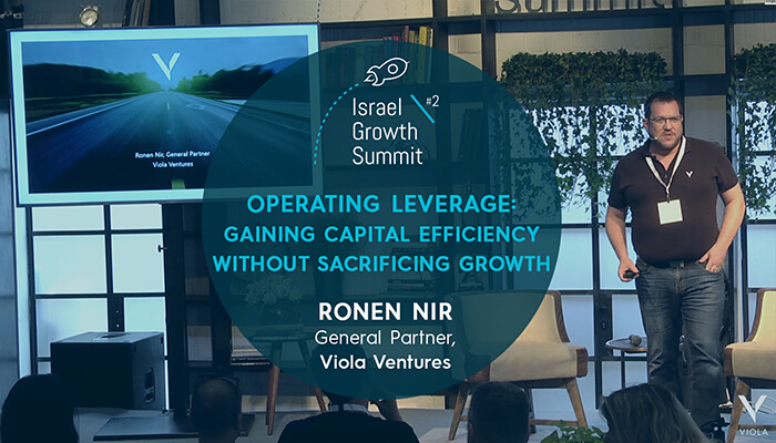 Viola Ventures General Partner, Ronen Nir, at the Israel Growth Summit 2018
