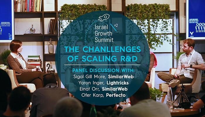 "Panel on ""The Challenges of Scaling R&D"" at the Israel Growth Summit 2018"