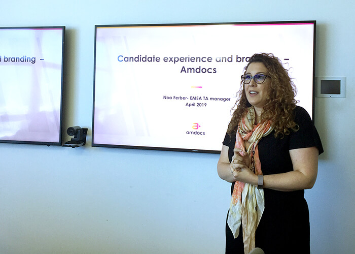 Amdocs's Noa Ferber at Viola meetup on Employer Branding